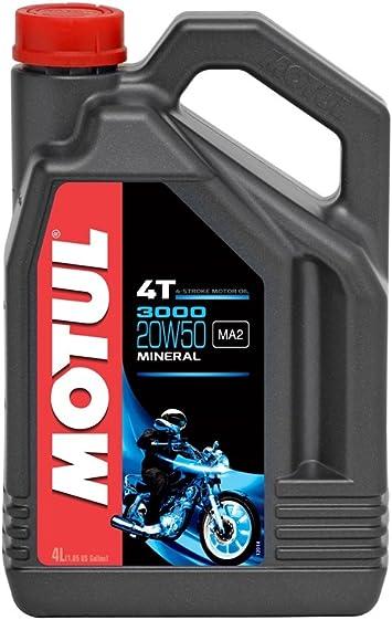 Motul 3000 4t 20w50 Mineralisches Motorenöl 4 Liter Auto