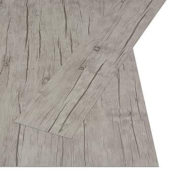 36 St/ück PVC-Bodenbel/äge 91,5 x 15,2 cm Bodenfliesen Selbstklebende wasserdichte w/ärmeisolierte K/üche Wohnzimmer Nussbaumbraun 5,02 m/²