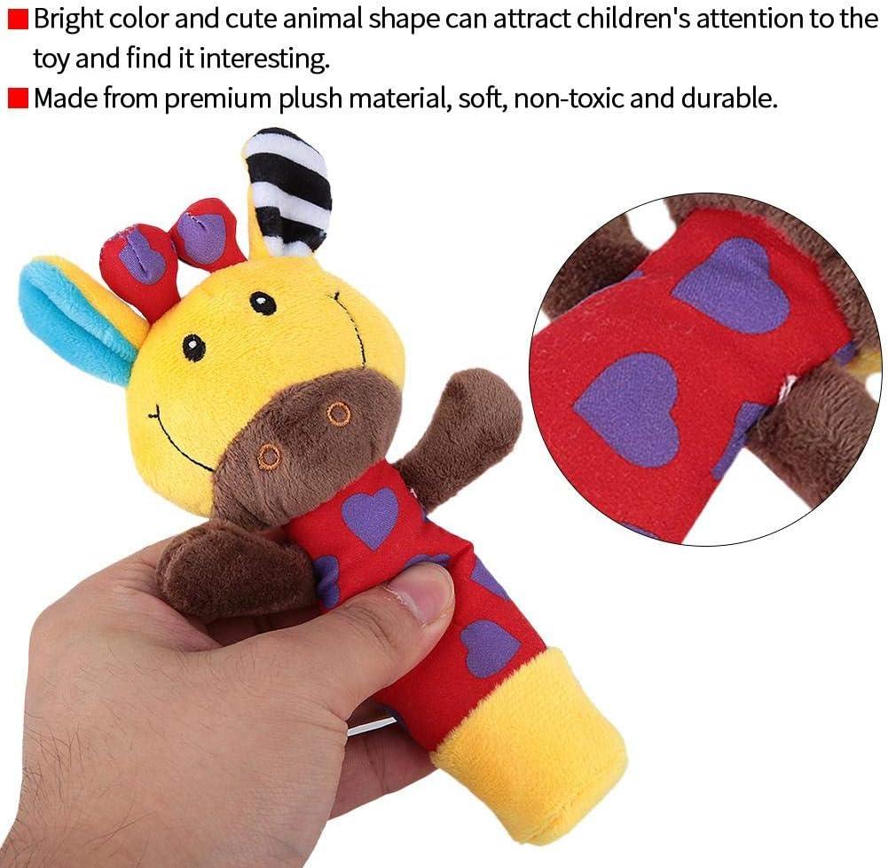 # 1 Neonato giocattolo sonaglio a mano bambino colorato cartone animato peluche farcito BB Stick bambole infantili per bambini regalo per le et/à 0-3