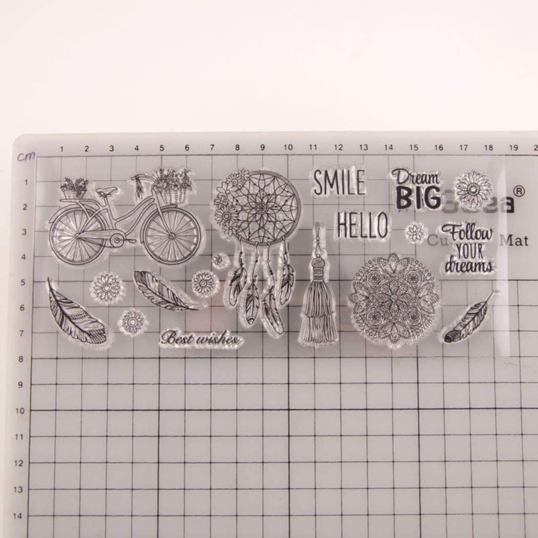 Clear Stamps for Card Making and DIY Scrapbooking Paper Crafts DIY Albums