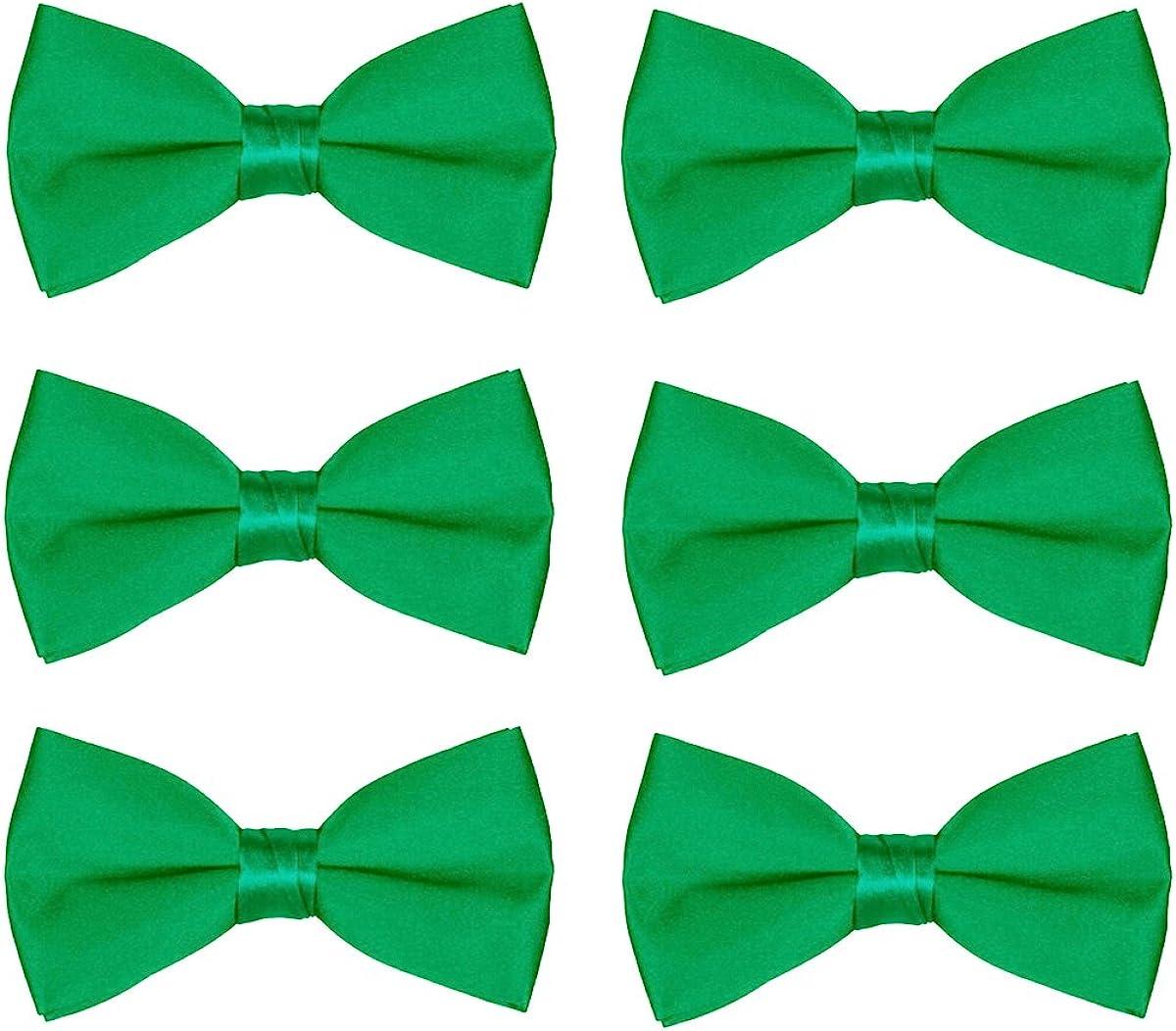 Men's Bow Tie Wholesale 6 Pack Wedding Ties Pre-Tied Formal Tuxedo Bowties