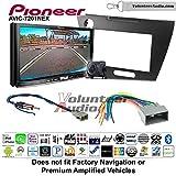 Pioneer AVIC-7201NEX Double Din Radio Install Kit with GPS Navigation Apple CarPlay Android Auto Fits 2012 Honda Civic (Dark Grey Satin)