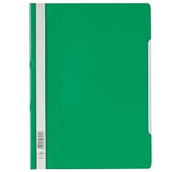 Durable PP Economy - Carpeta para fundas de plástico (25 unidades), color verde: Amazon.es: Oficina y papelería