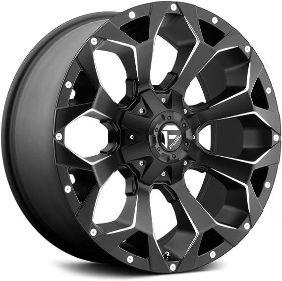 1mm Matte Black//Milled Wheel Rim Fuel Offroad D546 Assault 20x9 8x165.1