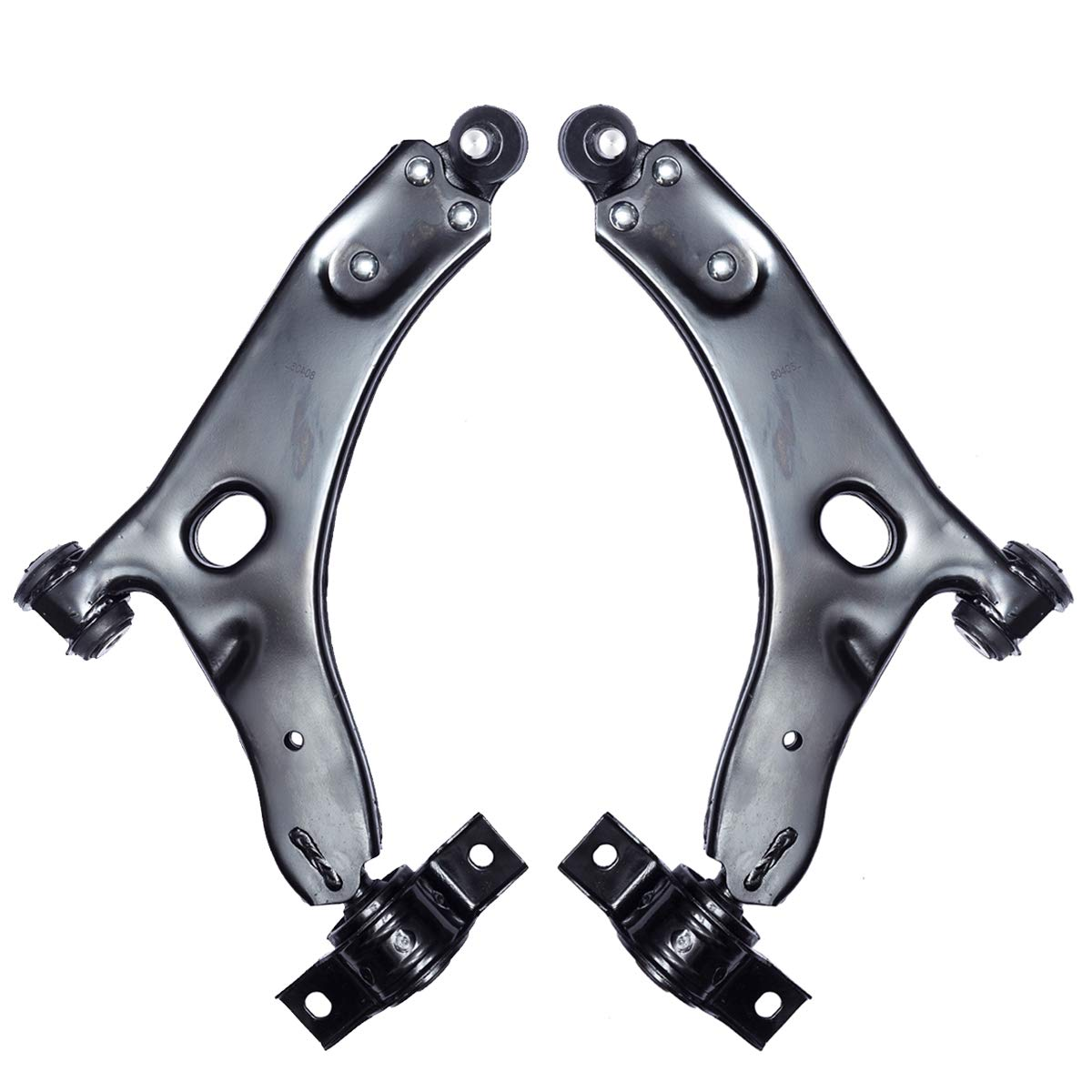 Left Right Front Lower Control Arm and Ball Joint Assembly Compatible 2000 2001 2002 2003 2004 Ford Focus Driver Passenger Side 2PCS AUQDD K80405 K80406 Professional Suspension