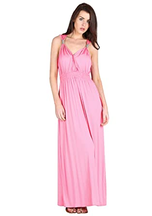 Sa Fashions® Ladies Bridesmaid Spring Coil Maxi Prom Party Night Out Wedding Elegant Luxury Gown