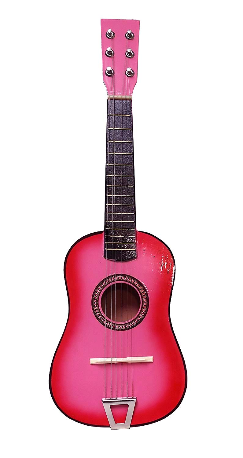 Toy Musical Instrument for Kids | String Acoustic Guitar w/ Tuning Knobs |Top Birthday Gift for Boys & Girls! | Rock 'n Roll Classic Guitar | Perfect for Beginners | Educational Toys 6+ (Pink)