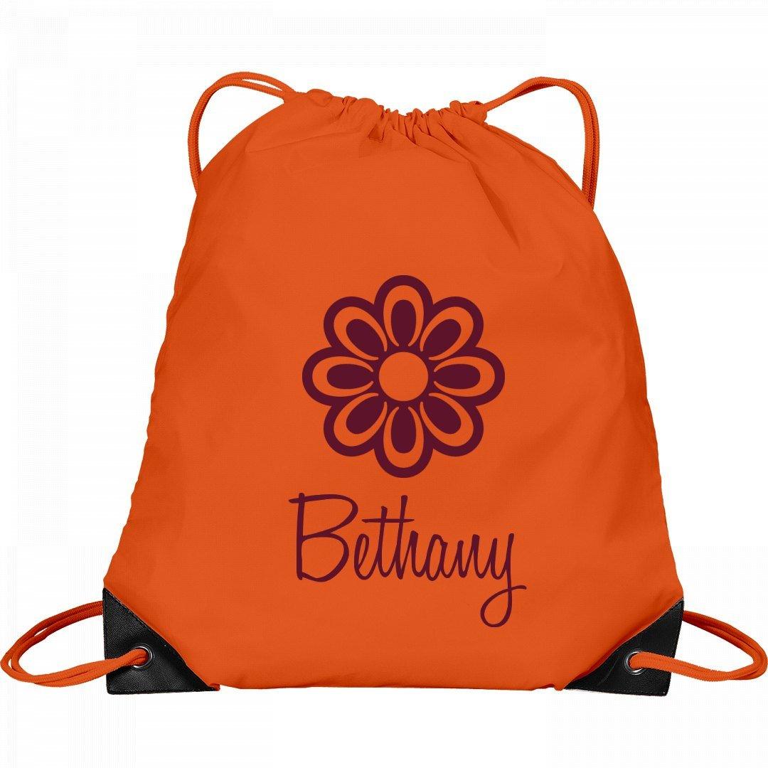 Flower Child Bethany: Port & Company Drawstring Bag