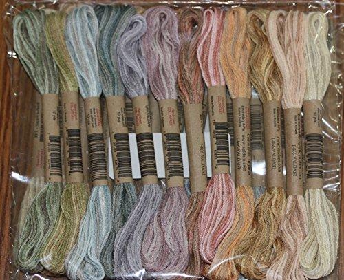 (12 Valdani 6 Strand Floss Embroidery Thread Muddy Monet 10 Yd Skeins)