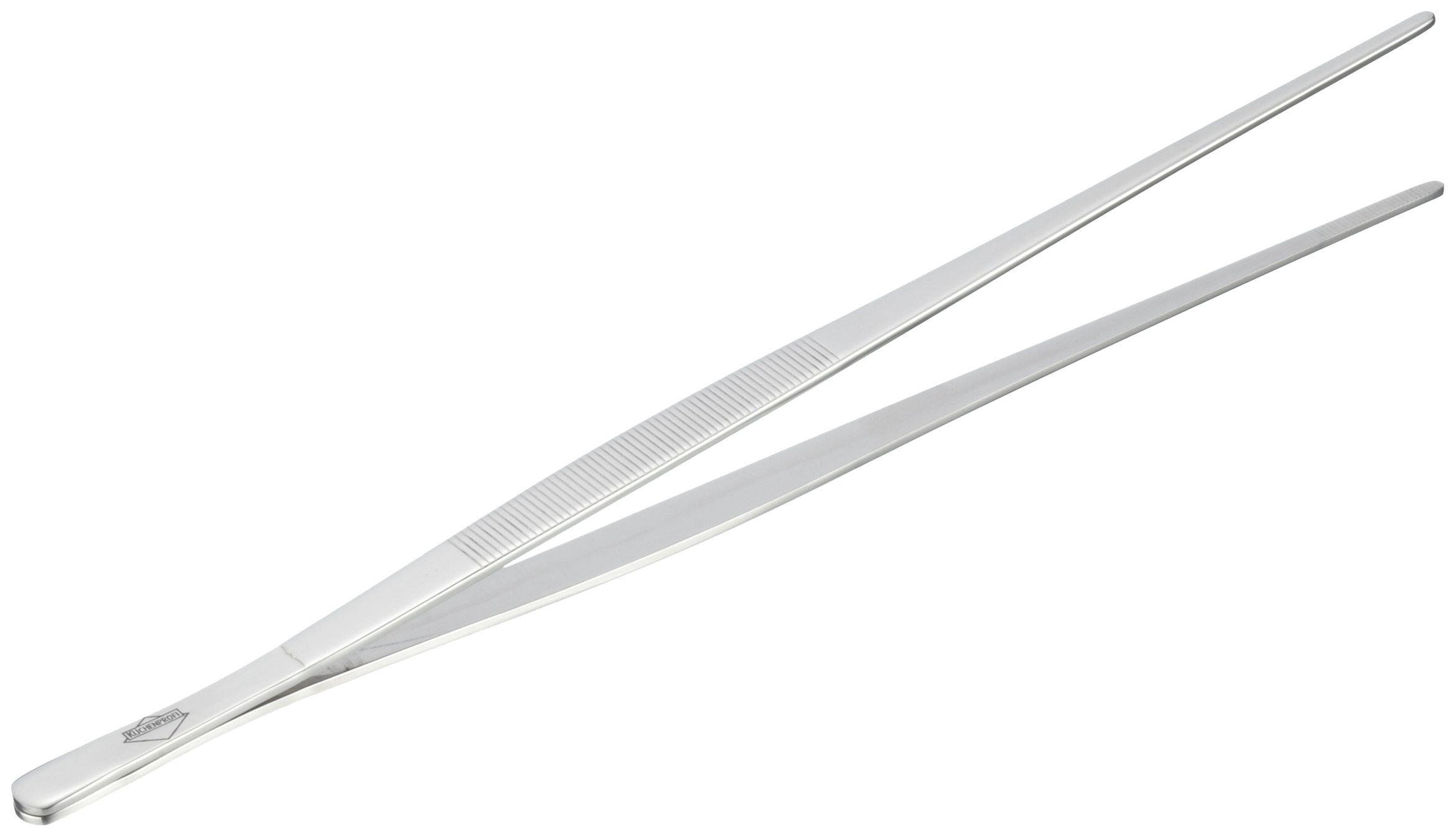 Kuchenprofi Extra-Long 12-Inch Tweezer Tongs in 18/10 Stainless Steel
