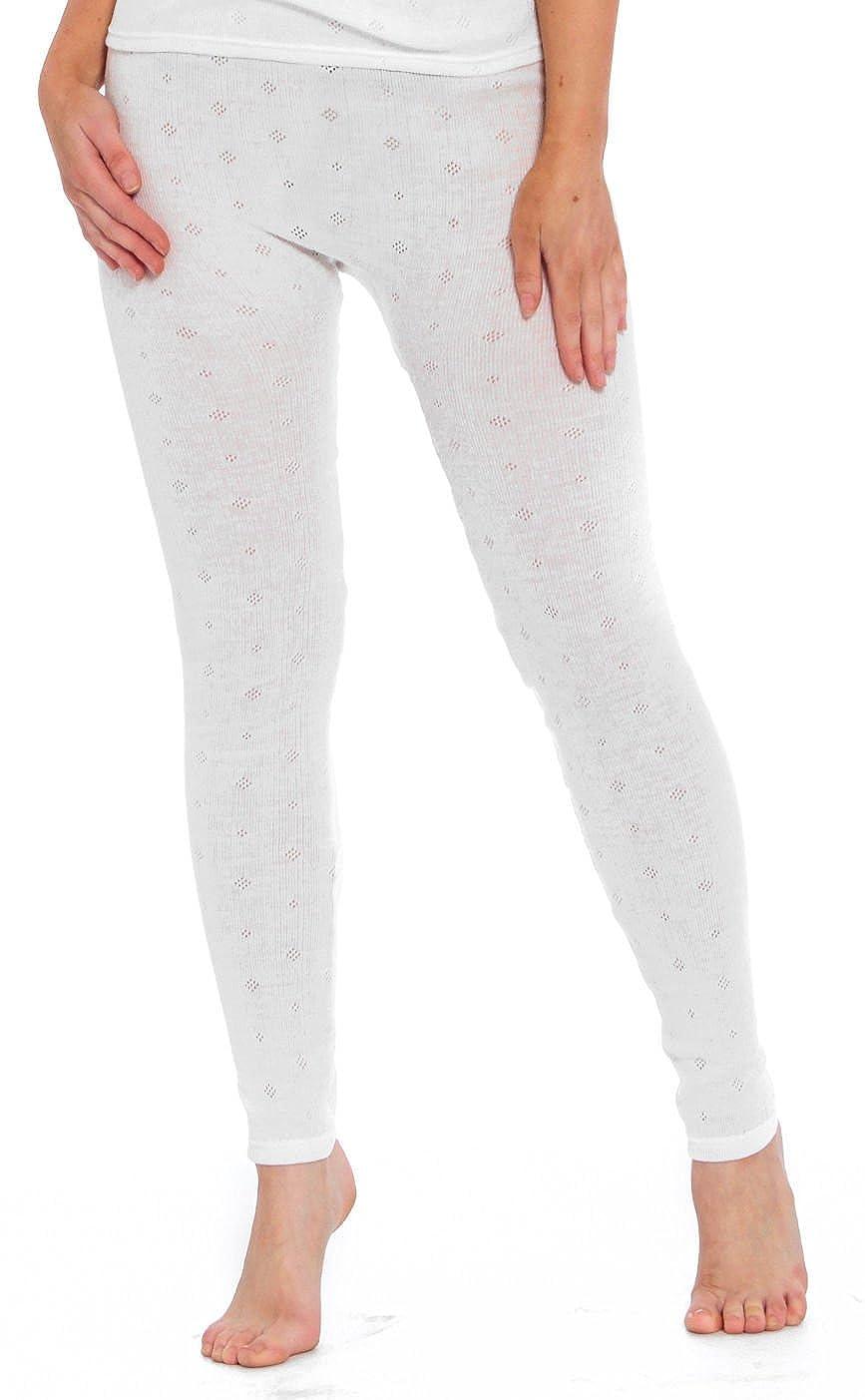 Ladies Thermal Leggings Woven Lace Pants Black White Size 8 10 12 14 16 18 20 22