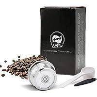 Ba30DEllylelly Cápsula de café recargable de acero inoxidable, filtro de cápsula, goteador, compatible con DELTA Q…