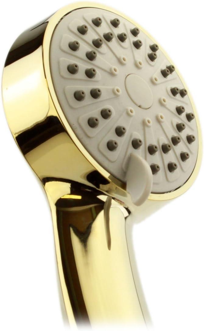 Soffione doccia argento interruttore on//off pause ad alta pressione palmare soffione con 3 diversi tipi di getto regolabile maniglia soffione doccia finitura cromata ABS staccabile accessori