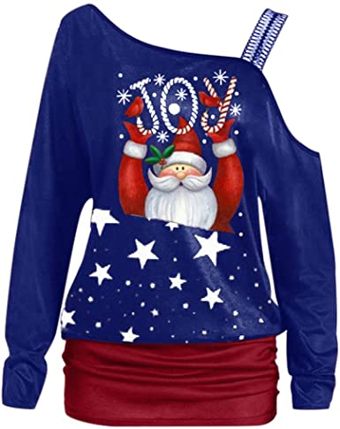 Christmas Sweatshirts 2020 Amazon.com: Off Shoulder Christmas Sweatshirts for Women Fashion