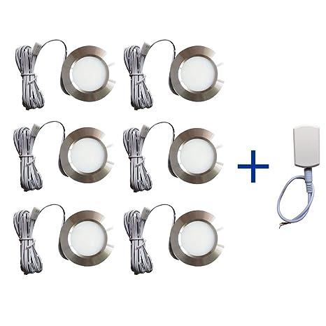 12v LEDlight Silver 12 Volt Closet Counter Cabinet Bookshelf Lighting Fixtures