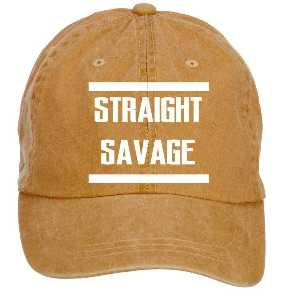 rongxincailiaoke Straight-Savage Washed Cap Brown: Amazon.es: Ropa ...