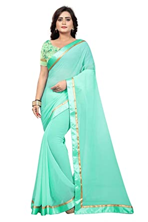4ce09a22289219 Image Unavailable. Image not available for. Color  Jaanvi fashion Women s  Marble Chiffon Saree with Digital Print Blouse ...