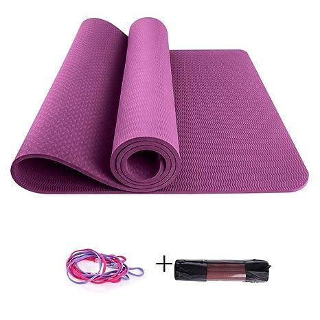 Esterilla Yoga Colchoneta de yoga gruesa monocromática de 6 ...