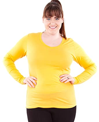 92d69700cf6 Image Unavailable. Image not available for. Color  Mustard Yellow Ladies Plus  Size ...