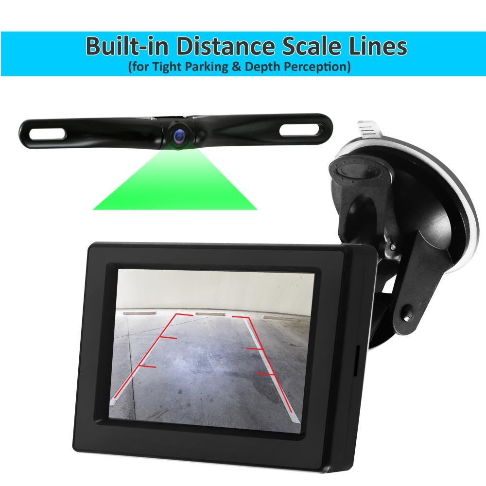 Pyle Backup Car Camera Rearview Monitor System Parking Plcm7700 Wiring Diagram Reverse Assist With Waterproof And Night Vision Abilities 47 Display