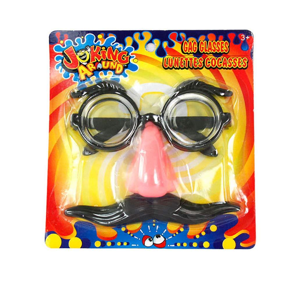 1 gafas de disfraz con divertido juguete de nariz y bigote para decoraci/ón de ni/ños Halloween al azar