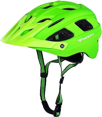 Moon HB3-5 Defender - Casco de enduro, bicicleta de montaña, todoterreno, color Grüne, tamaño M (55-58cm): Amazon.es: Deportes y aire libre