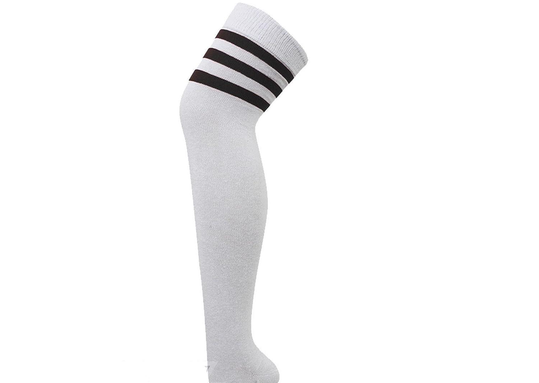 71c4089ef Ladies Womens Stripe Over Knee High Socks Sport Referee