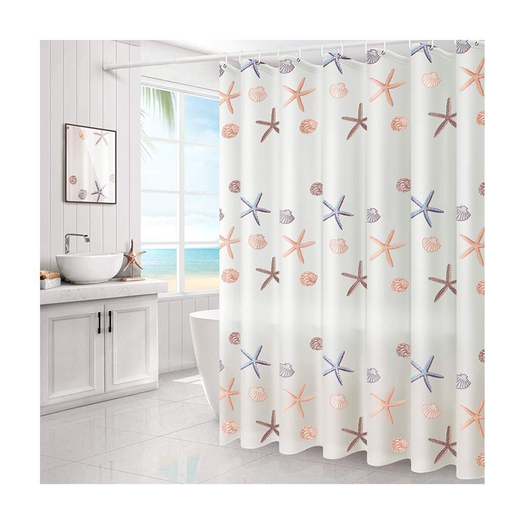 HTY Bathroom Shower Curtain, Waterproof Curtain Shower Curtain Rod Set Waterproof Thickening Free Punching Shower Curtain Partition Curtain (Size : 240200cm)
