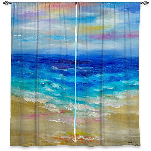 DiaNoche Designs Window Curtains Unlined, 80W x 52H in For Sale