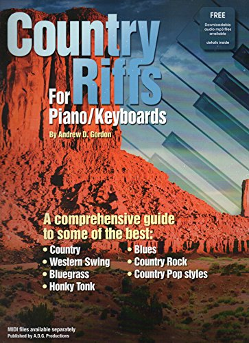 Country Riffs For Piano & Keyboards (Book/downloadable Audio files)