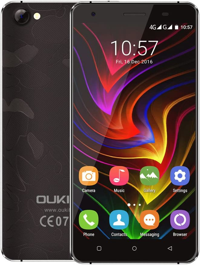 OUKITEL C5 Pro Smartphone 4G LTE 5.0 Pulgadas Pantalla MTK6737 Quad-Core 1.3GHz Android 6.0 2GB RAM 16GB ROM 5.0MP+2.0MP Caméras Dual SIM: Amazon.es: Electrónica