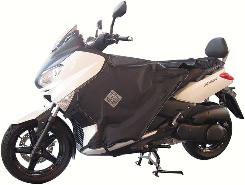 Compatible avec Yamaha X-Max 125 ABS 2012 12 Tablier Etanche OJ JFL-TF Couverture Thermique pour Scooter avec Doublure DOUBL/ÉE ET Cheveux SYNTH/ÉTIQUES Pro Leg Noir