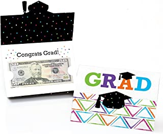 product image for Big Dot of Happiness Hats Off Grad - Graduation Party Money and Gift Card Holder - Set of 8