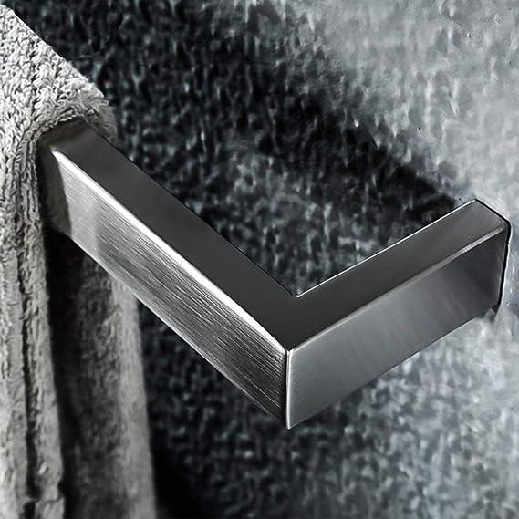 AFDK Portasciugamani Doppio in Acciaio Inox 304 Porta Asciugamani da Muro o da Bagno,A,50cm