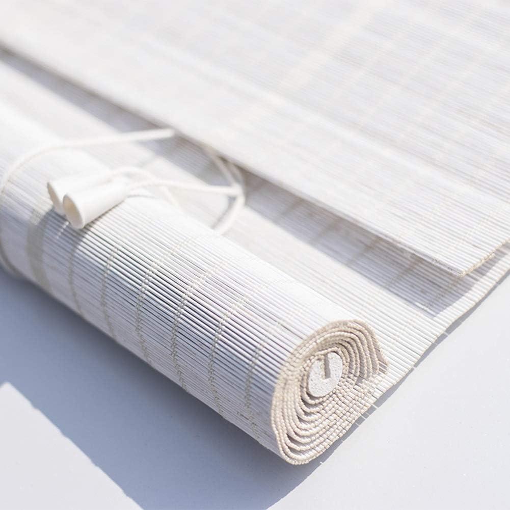 Tende per Finestra Tende filtranti per Tende avvolgibili Cortina di bamb/ù Bianco YYSYN Tenda a Rullo in bamb/ù Tende oscuranti per Soggiorno Camera da Letto Tapparella