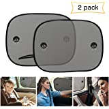 Car Window Shade, UBEGOOD Car Sun Shade for Side Window with Suction Cups, Double-Layer Mesh Block Sun for Baby Kids and Pets