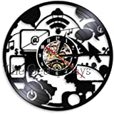 WYLYSD LED Reloj de Pared Grande Reloj de Pared de computadora Elegante Diseño Moderno Decoración de Arte de Oficina…