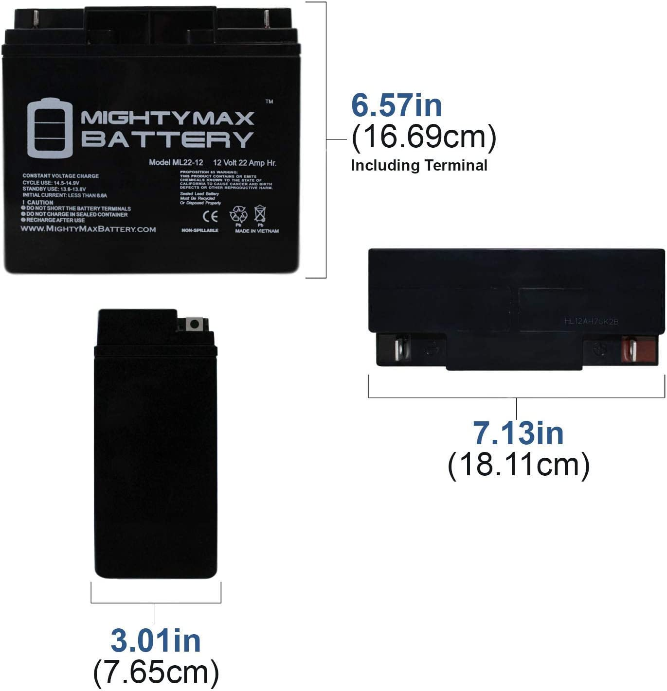 Mighty Max Battery 12V 22AH SLA Battery for Black Decker Electromate 400 Brand Product