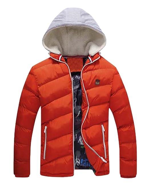 Yiiquan Uomo Leggero Cappotto Piumino di Inverno Cappotto Piumino da Caldo  con Cappuccio  Amazon.it  Abbigliamento 140301995eb