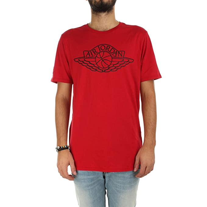 Logo it Jordan Air Rosso Amazon Wings Nike Abbigliamento Shirt T O8HngHqX