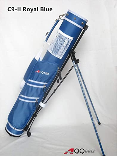 C9 A99 Golf Practice Sunday Range Pencil Carry Stand Bag Removable Top Royal Blue Grey trim
