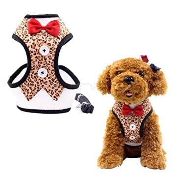 Vestido de arnés para perro, con correa, chaleco para perro ...