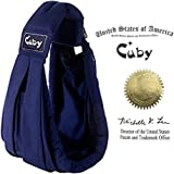 Cuby ベビースリング ベビーキャリア 抱っこひも 新生児 対象0~2歳 片肩 説明書あり (ダークブルー)