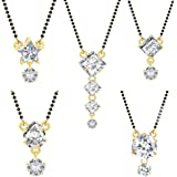 Jewels Galaxy Gold Plated Jewellery Set for Women (White)(CB-MS-892)