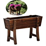 Raised Garden Bed Trough Planter,Great for Patio Balcony Indoor and Outdoor Elevated and to Grow Flowers Vegetables or Herbs, 60 * 25 * 38㎝
