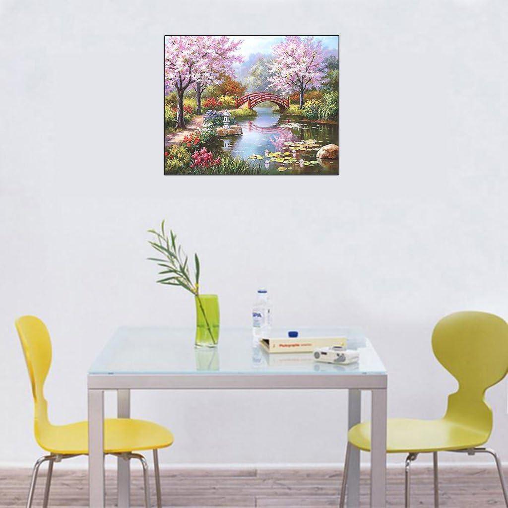 S-TROUBLE Sakura Baum DIY Malen nach Zahlen Kit Digital /Ölgem/älde Leinwand Kunst Home Decor