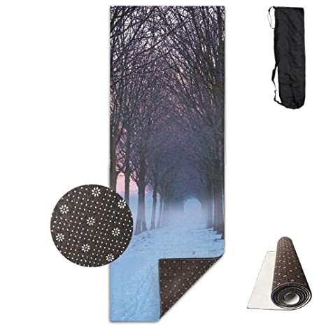 Amazon.com : wenhuamucai Bare Trees and White Snow Yoga Mat ...