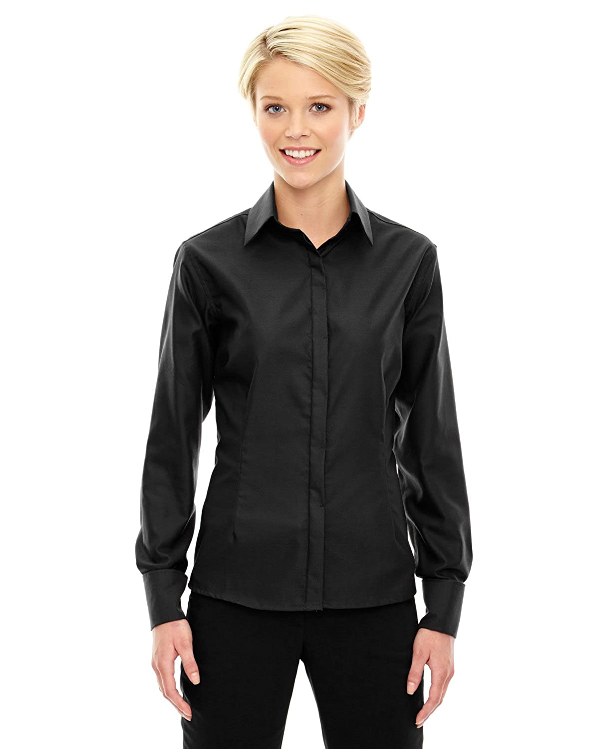 North End Womens Wrinkle Free 2-Ply Royal Oxford Dobby Shirt (78689)