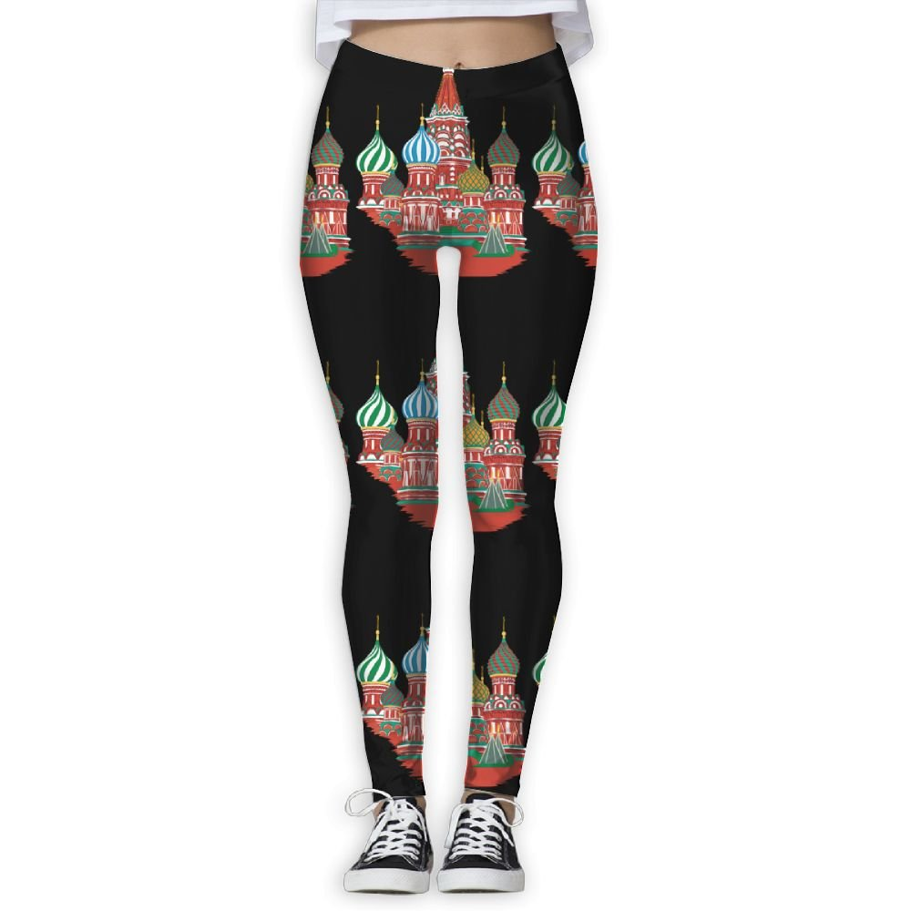 Amazon Com Russian Style Buildings Women Sexy Skinny Yoga Leggings Exercise Workout Pants Gym Tights Clothing