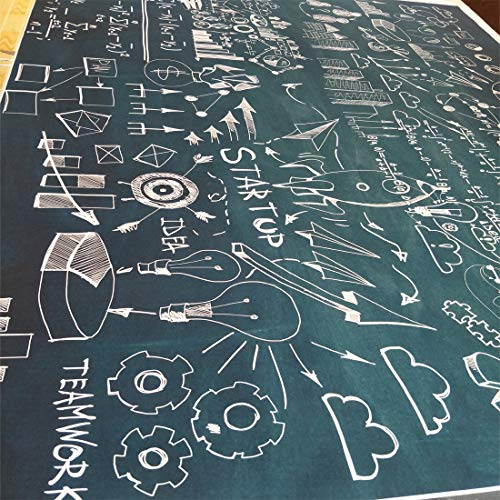 Focussexy 5x7ft Photo Backdrop Photography Screen Video Studio Math Magic Poster Fabric Background for Students Commencement Day]()
